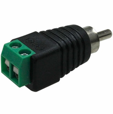 RCA Plug Male to 2-Pin Terminal Adapter