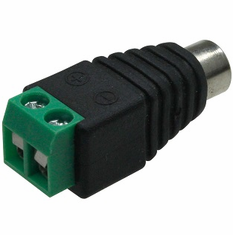 RCA Socket Female to 2-Pin Terminal Adapter