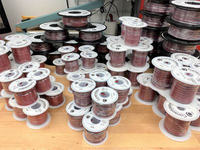 Red and Black Stranded Copper Power and Speaker Wire