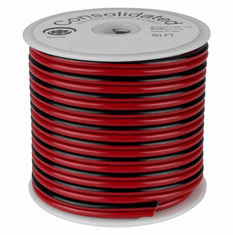 Red & Black 25 Foot 18 AWG Stranded Zip Wire