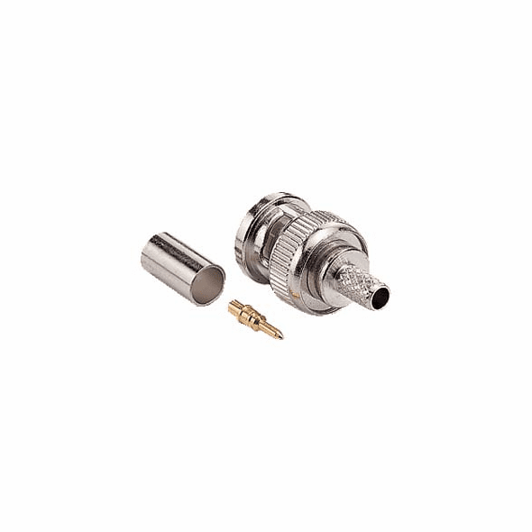 RG59/62 BNC Male 3 Piece Crimp-On Connector