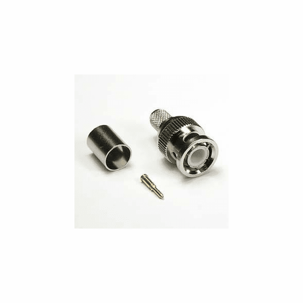 RG6 BNC Male 3 Piece Crimp-On Connector