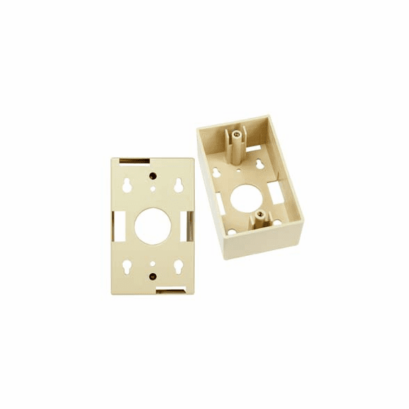 Single Gang Wall Plate Junction Box - Ivory