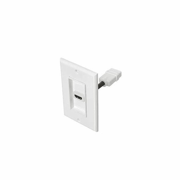 Single Port HDMI Wall Plate with 4 Inch built in cable