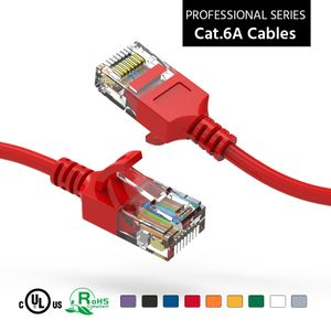 Slim CAT6A 10 Gigabit Ethernet Network Patch Cables