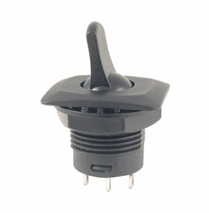 NTE 54-723 Switch duck bill Toggle SPDT 6a 125vac On-None-On solder terminals black body and actuator