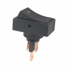 NTE 54-709-G Switch illuminated Rocker SPST 20a 12vdc On-None-Off green dot .250 inch quick connect terminals
