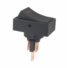 NTE 54-709-R Switch illuminated Rocker SPST 20a 12vdc On-None-Off red dot .250 inch quick connect terminals