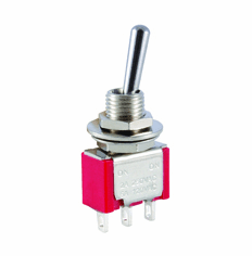 NTE 54-301E Toggle Switch miniature bat handle SPDT 5a 120vac On-None-(On) epoxy sealed solder terminals