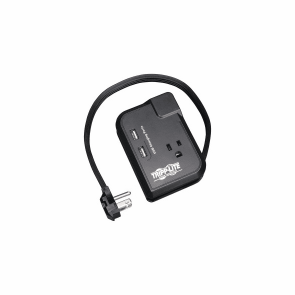 TRIPP LITE Traveler3USB 3-Outlet Surge Protector with 2 USB Charging Ports