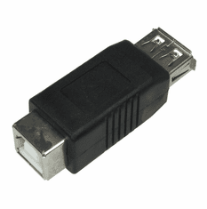 Type A Female to Type B Female USB Adapter
