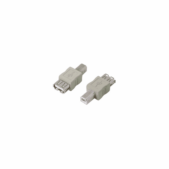 Type A Female to Type B Male USB Adapter