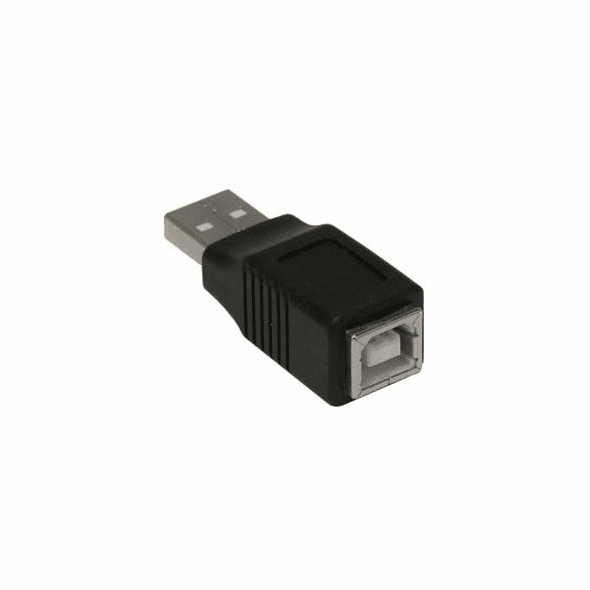 Type A Male to Type B Female USB Adapter