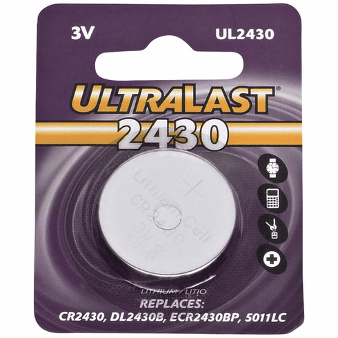 UL2430 CR2430 Lithium Coin Cell Battery