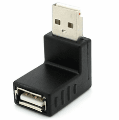 UP Angled Type A Male to Female USB 2.0 Adapter