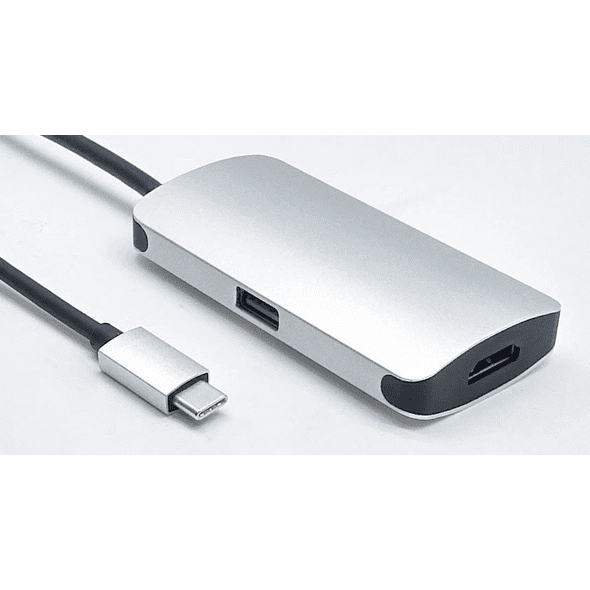 USB Type C Male to HDMI / Type C / Type A Female 3 in 1 Adapter
