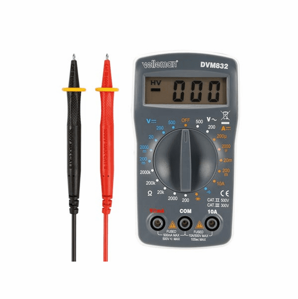 Velleman DVM832: Digital Multimeter - 19 Ranges