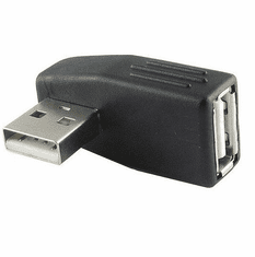 Vertical Left Type A Male to Female USB 2.0 Adapter