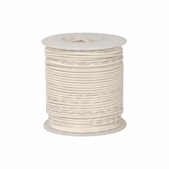 White 100 Foot 26 AWG stranded hook-up wire