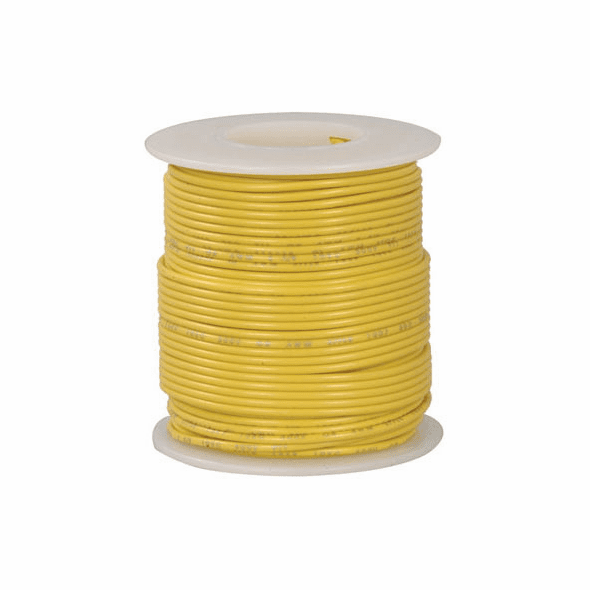 Yellow 100 Foot 20 AWG stranded hook-up wire