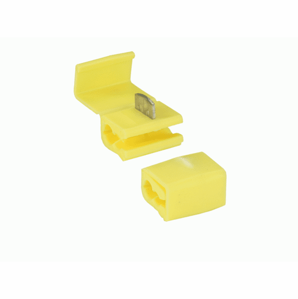 Yellow Instant Tap Connector 12-10 Gauge - Package of 10