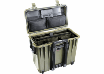 Pelican 1440 Case With Padded Office Divider Set & Lid Organizer O D GREEN