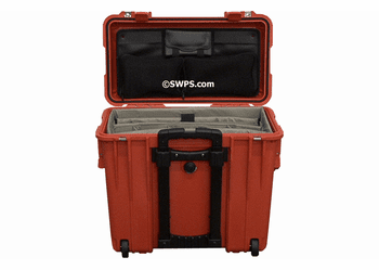 Pelican 1440 Case With Padded Office Divider Set & Lid Organizer ORANGE