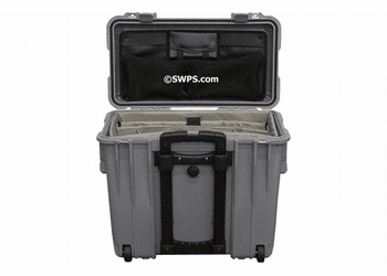 Pelican 1440 Case With Padded Office Divider Set & Lid Organizer SILVER