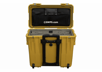 Pelican 1440 Case With Padded Office Divider Set & Lid Organizer YELLOW