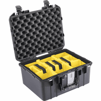 Pelican 1507 Air Case Black with Padded Divider Kit 1507PD-Black