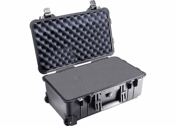 Pelican 1510 w/Foam Carry-on Case - FAA approved For airlines-BLACK