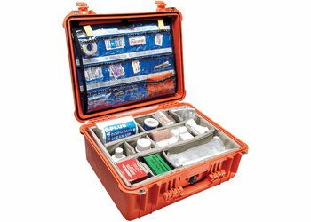 Pelican 1550EMS Case With EMS Organizer/Dividers - Orange
