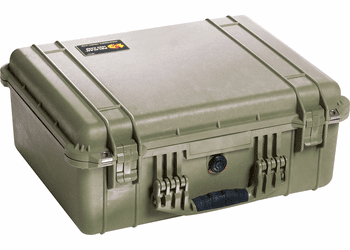 Pelican 1550NF Case Without Foam (1550) - OD GREEN