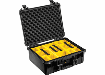 Pelican 1554 Case With Padded Dividers (1550) - BLACK