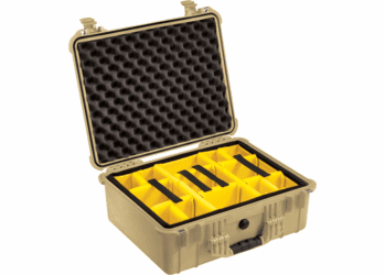 Pelican 1554 Case With Padded Dividers (1550) - TAN