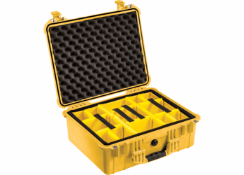 Pelican 1554 Case With Padded Dividers (1550) - YELLOW