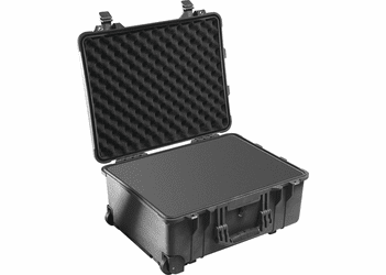 Pelican 1560 Case with wheels and foam - BLACK