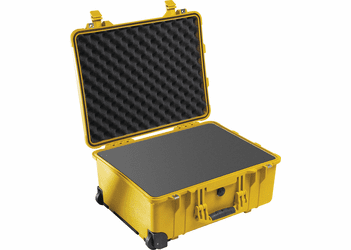 Pelican 1560 Case With wheels - YELLOW