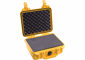 Pelican Case 1200 With Foam - YELLOW