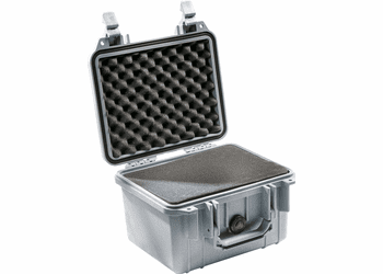"Pelican Case 1300  With Foam - SILVER <font color=""red"">300 MOQ"