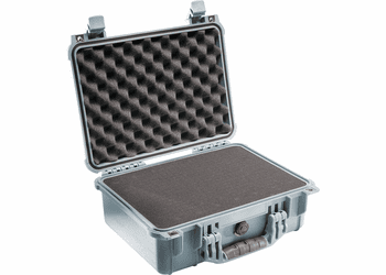 Pelican Case 1450 With Foam - SILVER