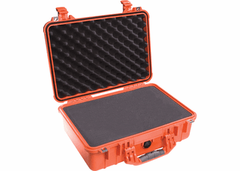Pelican Case 1500 With Foam - ORANGE