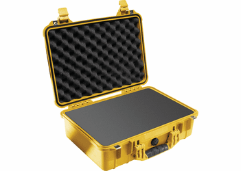 Pelican Case 1500 With Foam - YELLOW