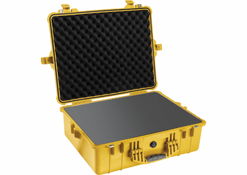Pelican Case 1600 With Foam - YELLOW