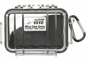 Pelican Micro Case # 1010 - Clear With BLACK Liner