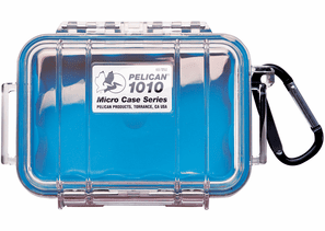 Pelican Micro Case # 1010 - Clear With Blue Liner