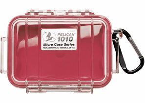 Pelican Micro Case # 1010 - Clear With Red Liner