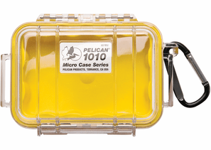 Pelican Micro Case # 1010 - Clear With YELLOW Liner