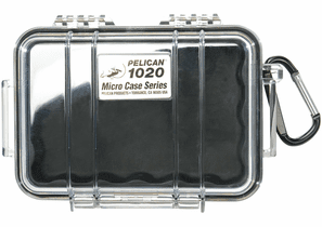 Pelican Micro Case # 1020 - Clear With BLACK Liner