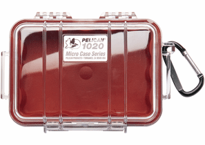 Pelican Micro Case # 1020 - Clear With Red Liner